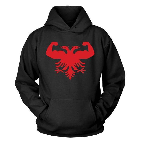 Strong Albanien Kapuzenpullover