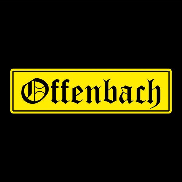 Offenbach Auto Aufkleber Sticker 5cm x 19cm