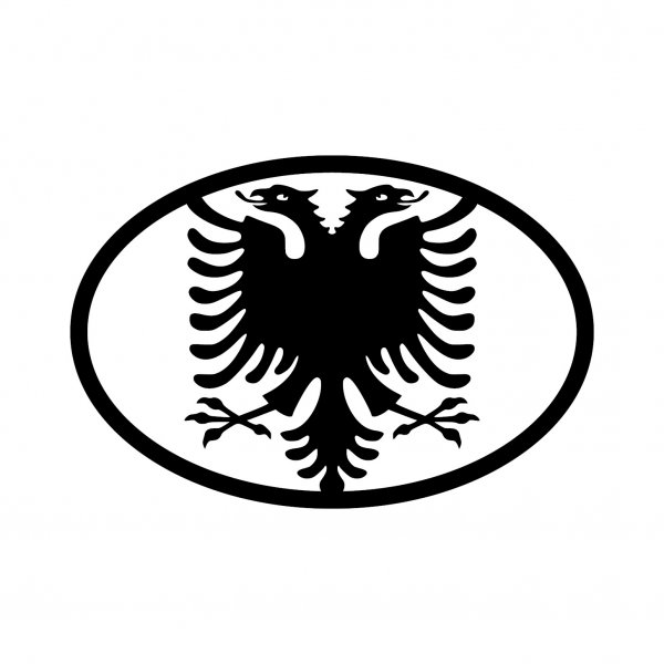 Albanien Adler Aufkleber Autoaufkleber Sticker 15cm x 10cm