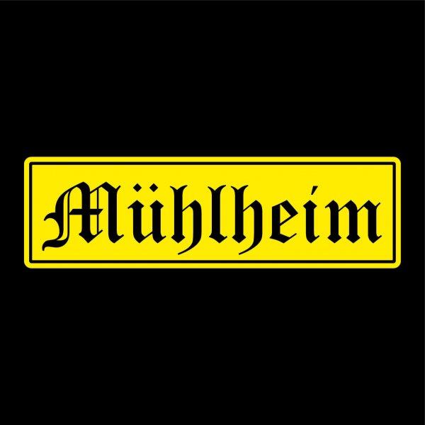 Mühlheim Städte Auto Aufkleber Sticker 5cm x 17cm