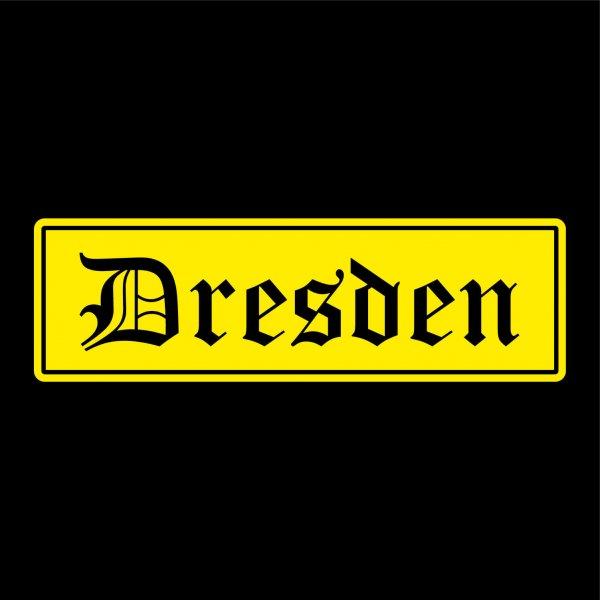 Dresden Städte Auto Aufkleber Sticker 5cm x 17cm