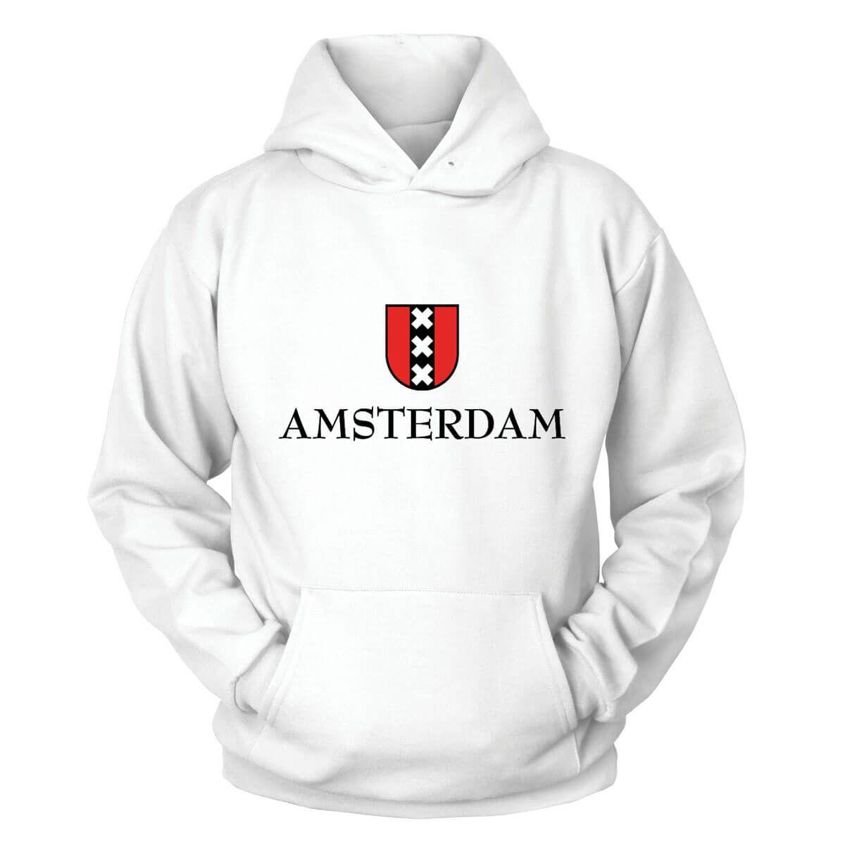 Holland Casual Jumper Wellcoda Amsterdam Weed Bike Mens Contrast Hoodie